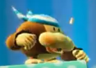 An Uckykong from Yoshi's Crafted World.