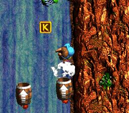 Letter K in Rocket Barrel Ride