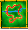 Splashdown Pass course icon from Diddy Kong Racing DS.