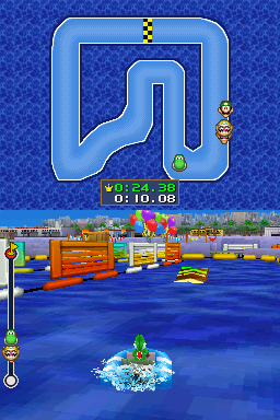 4-player mode for Raft Riot in Mario Party DS