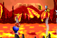 The location of the Golden Feather in Red-Hot Ride in the Game Boy Advance version