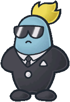 A Glitz Pit Security Guard from Paper Mario: The Thousand-Year Door.