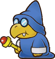 Sprite of a Magikoopa from Super Paper Mario.