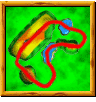 Windmill Plains course icon from Diddy Kong Racing DS.
