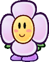 Sprite of a Crazee Dayzee from Super Paper Mario.