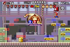 Level 1-DK+ of Mario vs. Donkey Kong.