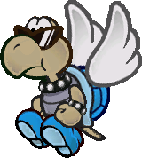 A Shady Paratroopa from Paper Mario: The Thousand-Year Door.
