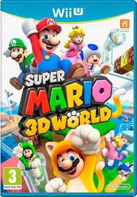 United Kingdom box art of Super Mario 3D World.