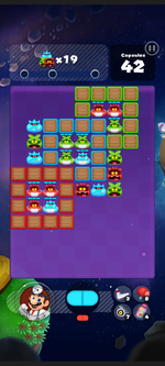Stage 287 from Dr. Mario World