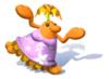 A sticker of Female Pianta