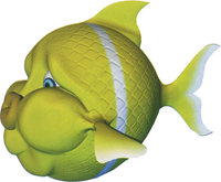 Artwork of a Gleamin' Bream from Donkey Kong Country 3: Dixie Kong's Double Trouble!