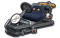 Thumbnail of a black Pipe Frame (with 8 icon), in Mario Kart 8.