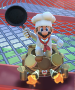 Mario (Chef) performing a trick.