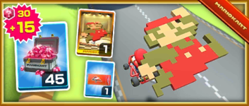 The 8-Bit Jumping Mario Pack from the Mario Bros. Tour in Mario Kart Tour