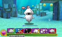 Screenshot of World 2-3, from Puzzle & Dragons: Super Mario Bros. Edition.