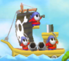 A Shy Guy Galleon from Mario Kart Wii