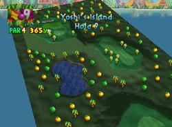 Hole 9 of Yoshi's Island from Mario Golf