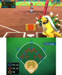 Ring Challenge in baseball in Mario Sports Superstars