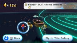 Bowser Jr.'s Airship Armada in the game Super Mario Galaxy.