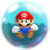 Small Mario in a bubble, from Super Mario Run.