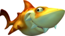 Artwork of a Yellow Snaggles from Donkey Kong Country: Tropical Freeze.