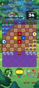 Stage 983 from Dr. Mario World