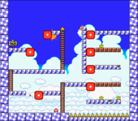 Level 7-9 map in the game Mario & Wario.