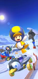 The Snow Tour from Mario Kart Tour.