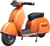 Rendered 3D model of Motor Scooter.
