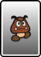 A Goomba card from Paper Mario: Color Splash