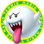 The icon artwork for Boo from Mario Tennis Open