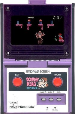 A screenshot of the product Donkey Kong Circus from the Game & Watch series