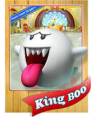 Level 1 King Boo card from the Mario Super Sluggers card game