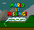 Mario is Missing SNES title screen.png