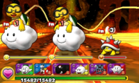 Screenshot of World 7-10, from Puzzle & Dragons: Super Mario Bros. Edition.