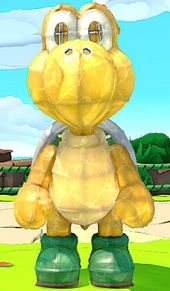 A Paper Macho Koopa Troopa from Paper Mario: The Origami King.