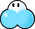 Sprite of an Ice Cherbil from Super Paper Mario.