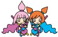 Kat and Ana artwork for WarioWare: Get It Together!