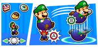 Illustration of the Snack Basket Bros. Attack from Mario & Luigi: Bowser's Inside Story + Bowser Jr.'s Journey
