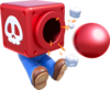 Artwork of Mario with a Cannon Box from Super Mario 3D World.