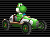 Yoshi's Classic Dragster from Mario Kart Wii