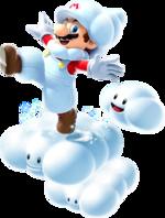 Artwork of Cloud Mario from Super Mario Galaxy 2