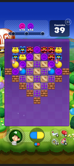 Stage 274 from Dr. Mario World