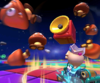 The icon of the Dry Bones Cup challenge from the Halloween Tour and the Wendy Cup challenge from the Peach Tour in Mario Kart Tour.
