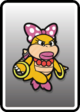 The fully painted Wendy Card in Paper Mario: Color Splash.