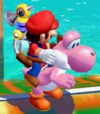 Pink Yoshi in Super Mario Sunshine.