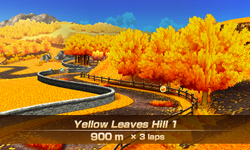 Yellow Leaves Hill 1 overview from Mario Sports Superstars