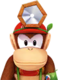 Sprite of Dr. Diddy Kong from Dr. Mario World