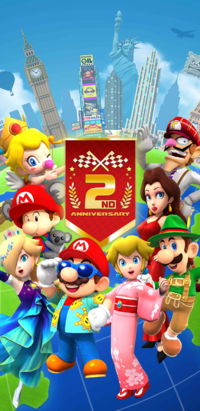 The 2nd Anniversary Tour from Mario Kart Tour