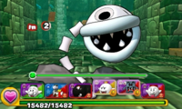 Screenshot of World 7-Tower 1, from Puzzle & Dragons: Super Mario Bros. Edition.